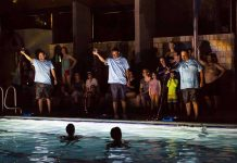 "Forklift Danceworks' ""Bartholomew Swims"" performance."