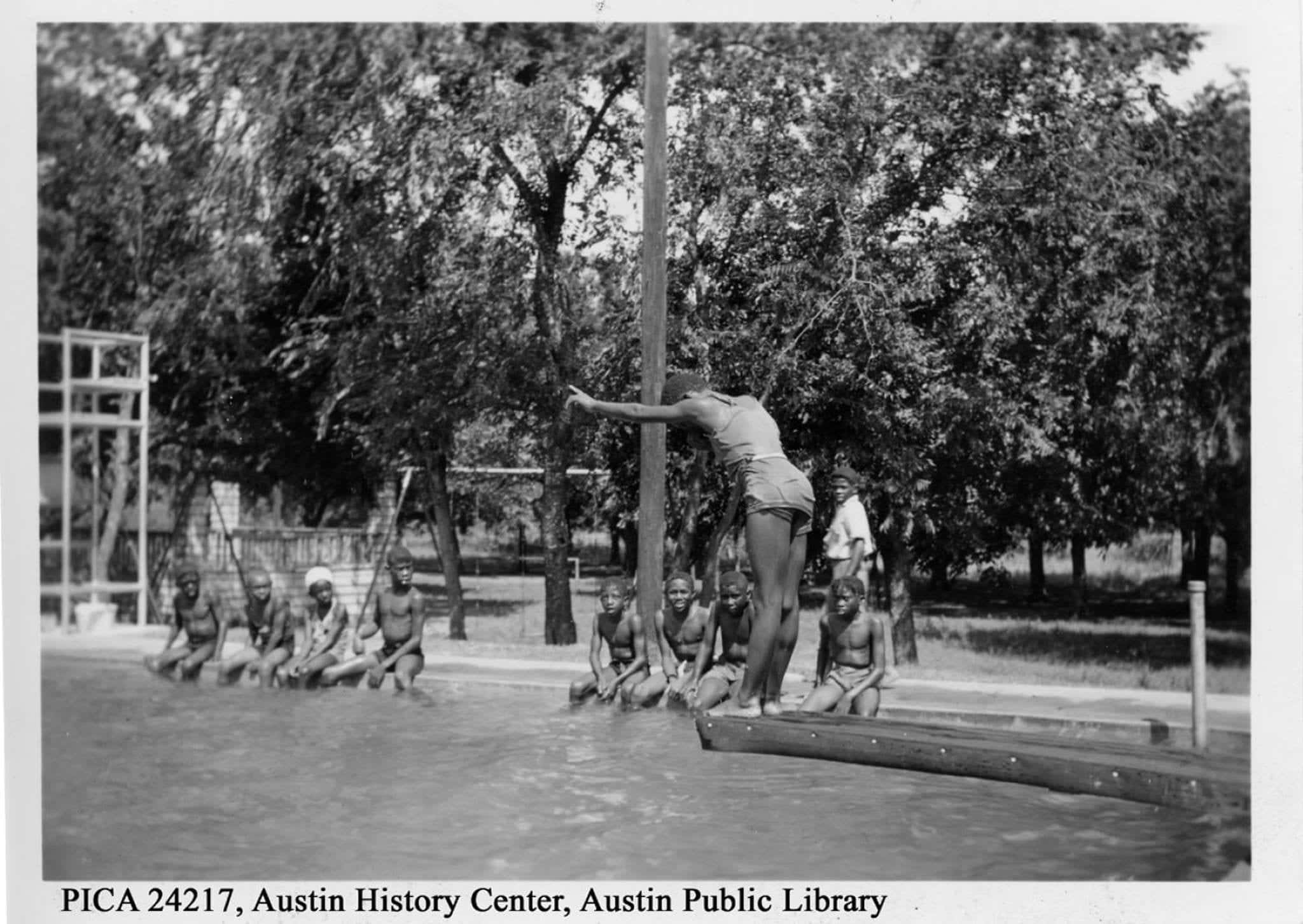 """""""Rosewood Park for Negroes, photograph, September 8, 1938."""" Rosewood Park was established in 1929 as Austin's first public open space set aside for African Americans, a result of the 1928 Koch & Fowler plan that institutionalized racial segregation in Austin. Photo credit: Ellison Photo Service, Austin. Austin History Center, Austin Public Library."""