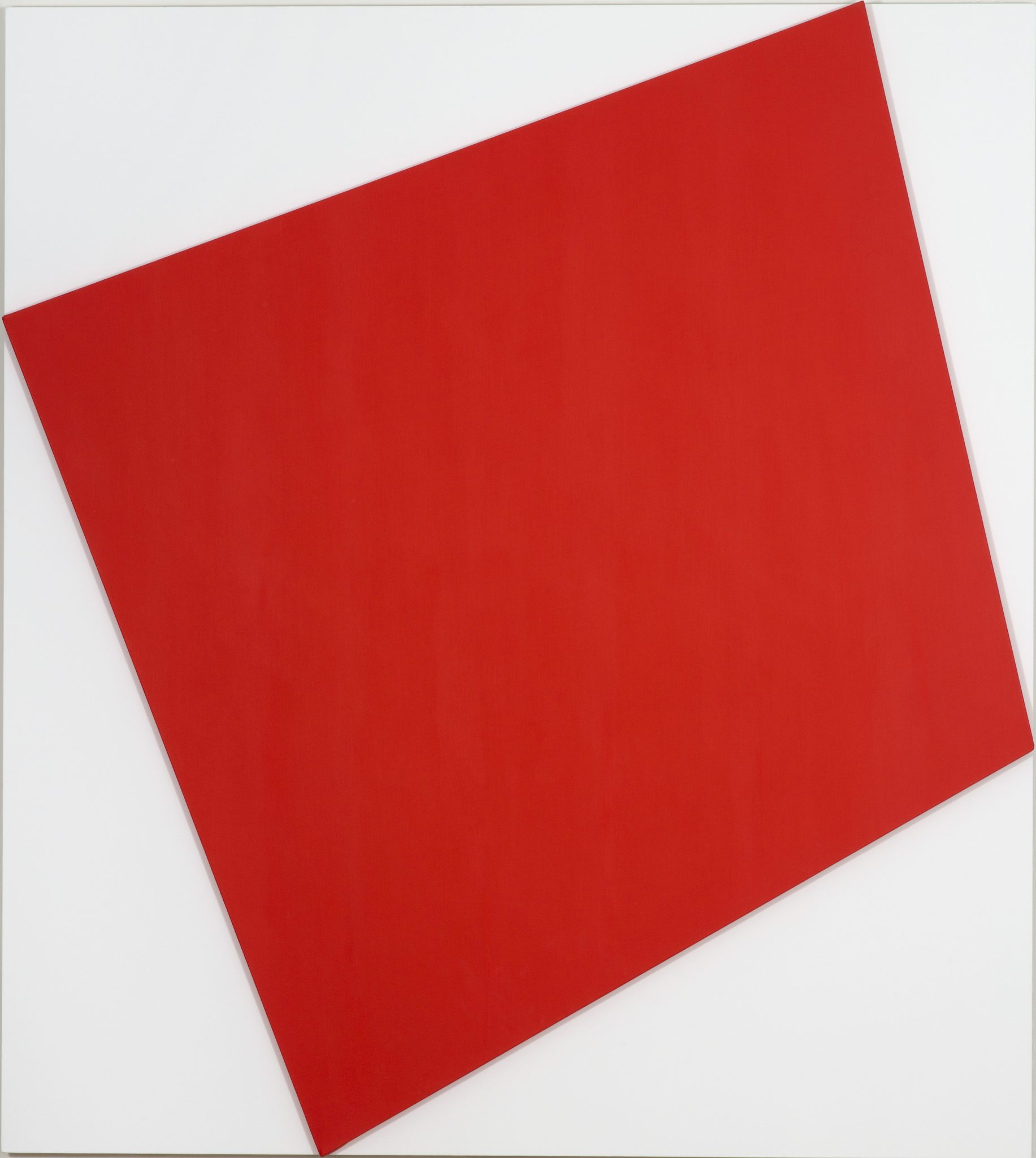 Ellsworth Kelly, Red Relief with White,