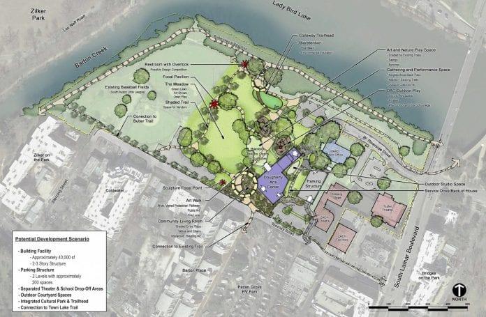 Butler Shores site plan for new Dougherty Arts Center