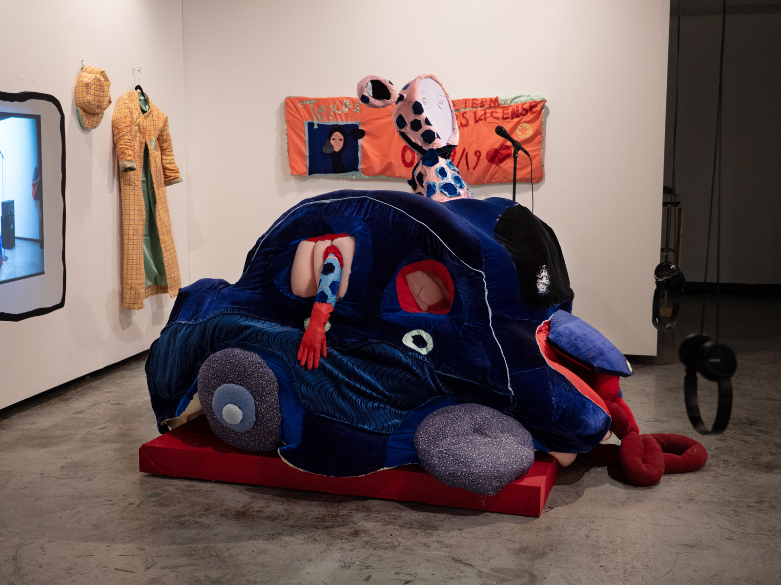 "Installation view of Rosa Nussbaum, ""Car (performance sculpture),"