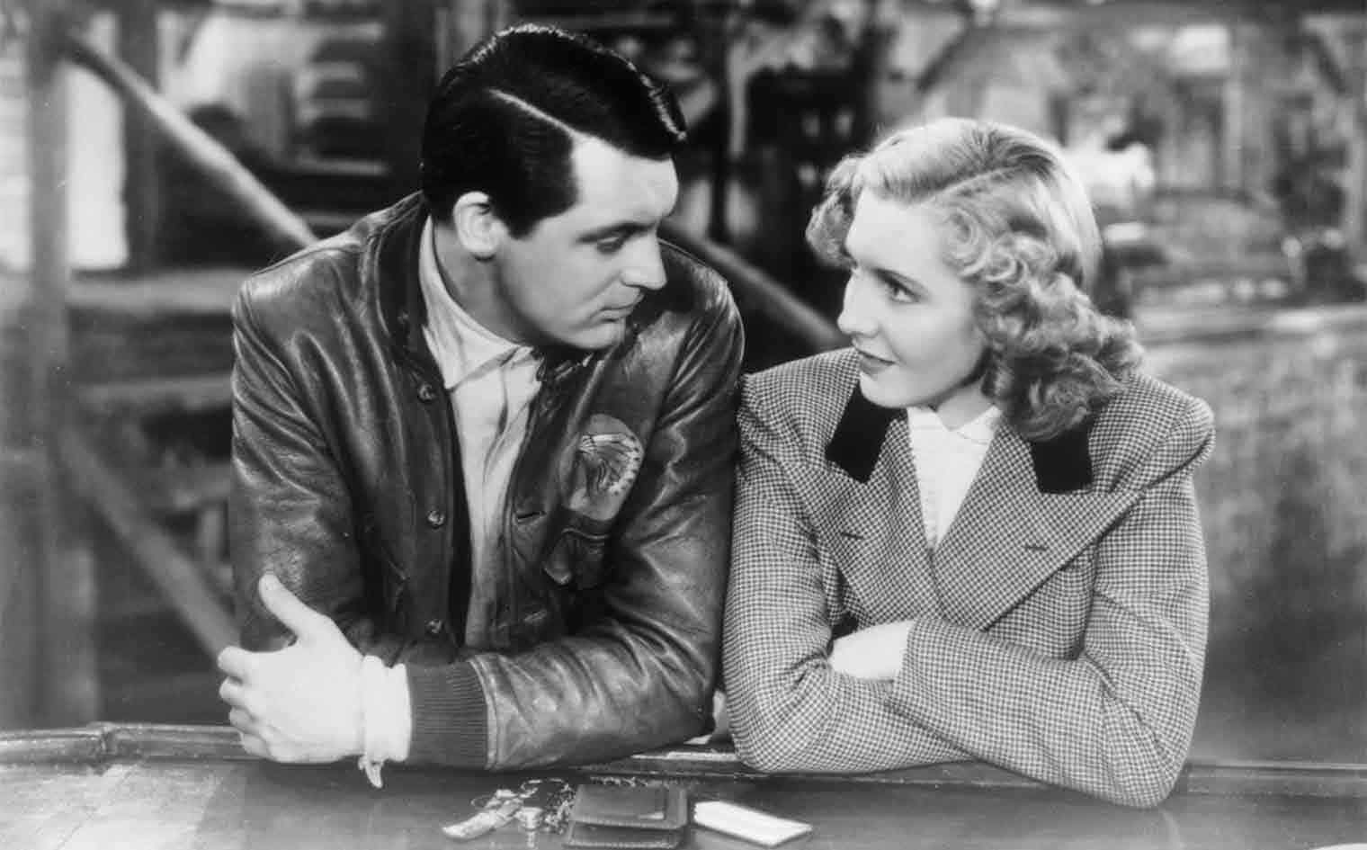 "Cary Grant and Jean Arthur in Howard Hawk's ""Only Angels Have Wings"""