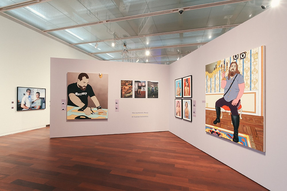 """Installation view of """"Transamerica/n: Gender, Identity, Appearance Today"""" at the McNay Museum"""