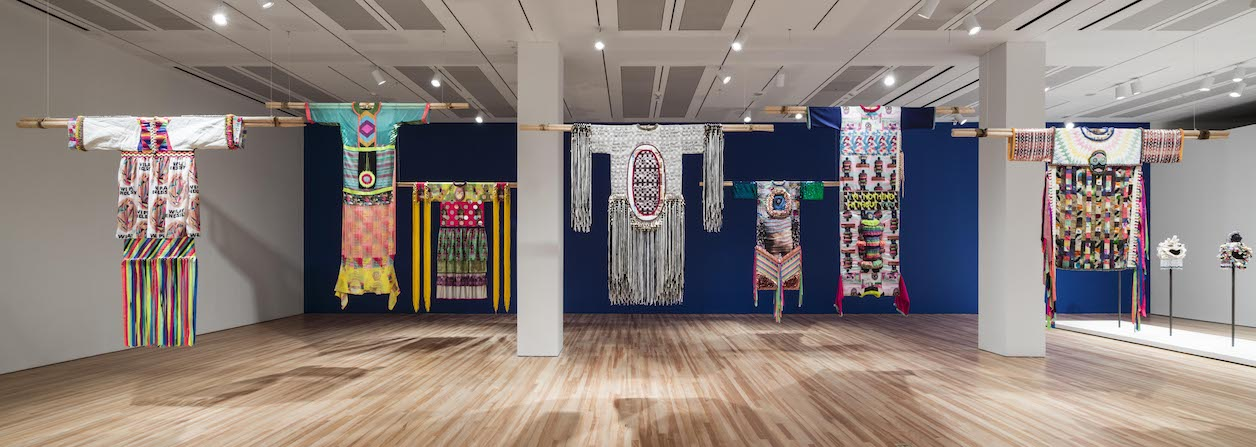 "View of ""Jeffrey Gibson: This Is the Day""at the Blanton Museum of Art"