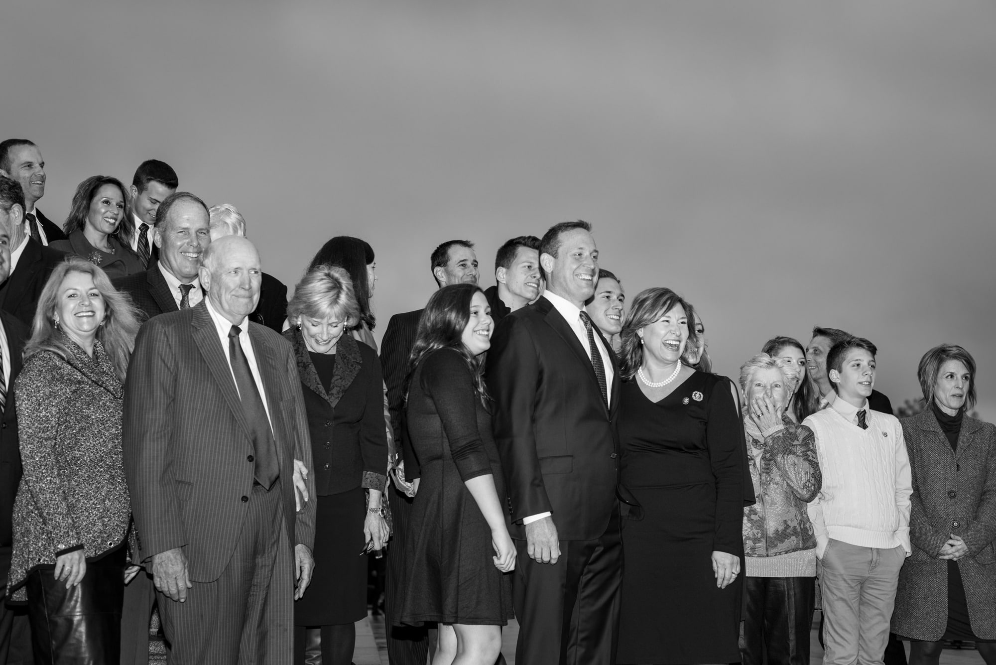 Mike Osborne New Congressman with Family and Friends