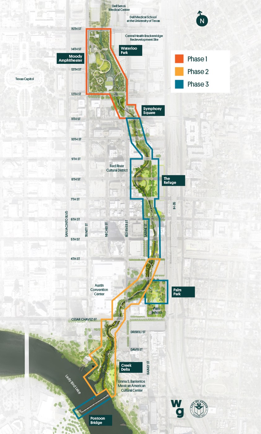 Map of Waterloo Greenway