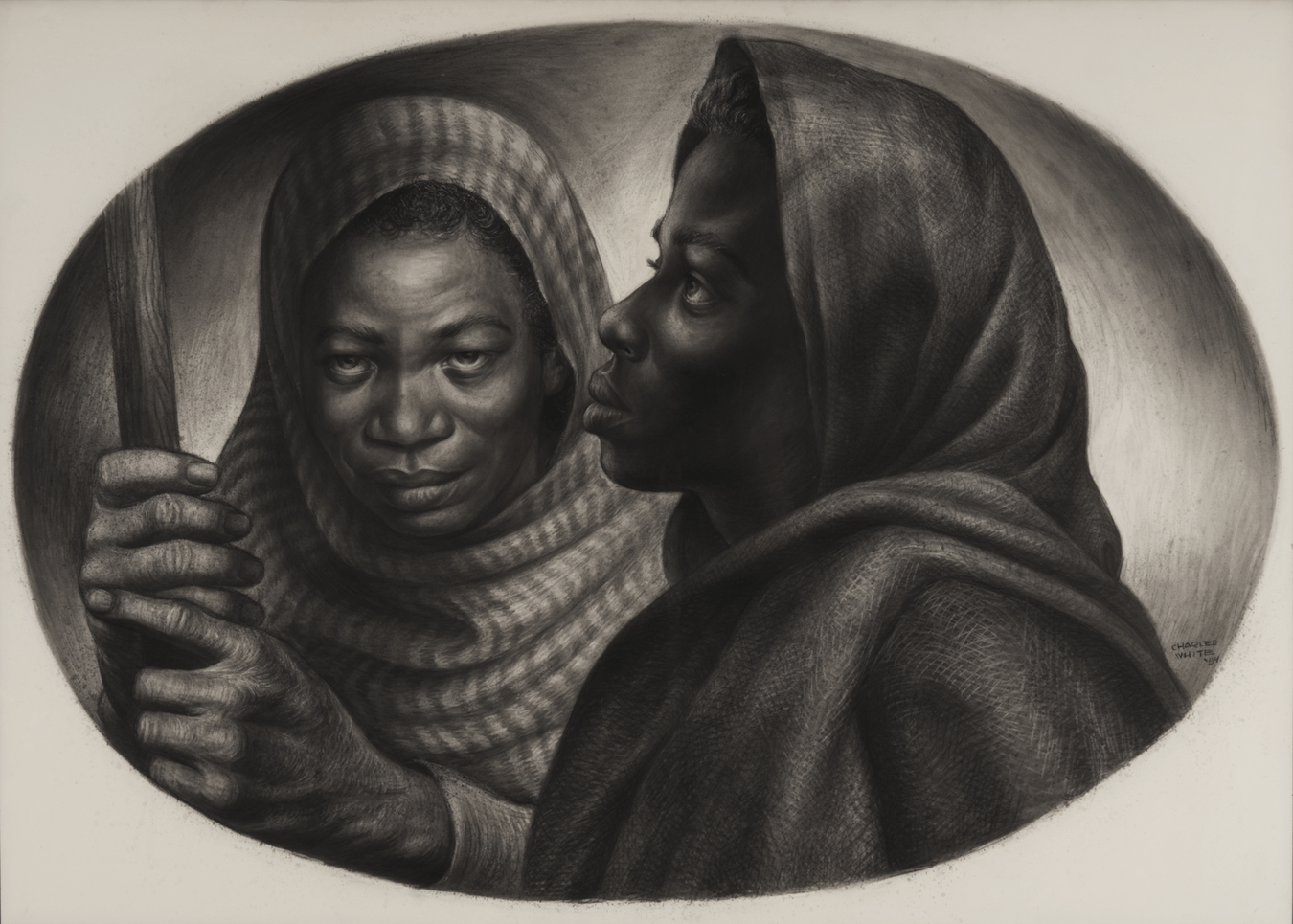 "Charles White, ""General Moses and Sojourner (Harriet Tubman and Sojourner Truth),"""