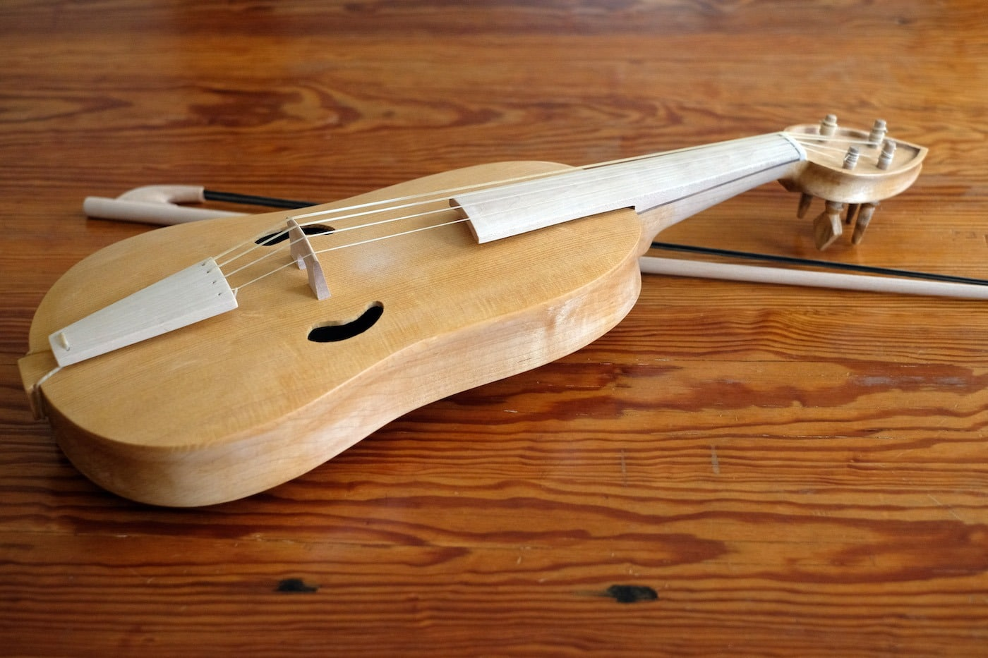 A vielle a Medieval precursor to the modern violin
