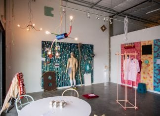 """Installation view of """"Andy Coolquitt: Pinto Beans"""" at Bale Creek Allen Gallery"""