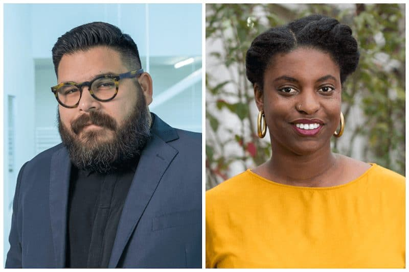 Evan Garza (left) and Ryan N. Dennis are the curators of the 2021 Texas Biennial.