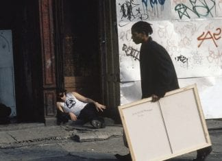 "Jean-Michel Basquiat in ""Downtown 81."""