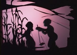 ..calling to me from the angry surface of some grey and threatening sea, Kara Walker, 2007. Courtesy of Sikkema Jenkins Co.