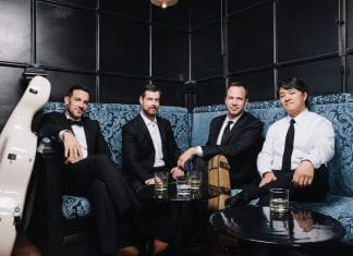 The Miró Quartet. From left, Joshua Gindele, John Largess, William Fedkenheuer and Daniel Ching.