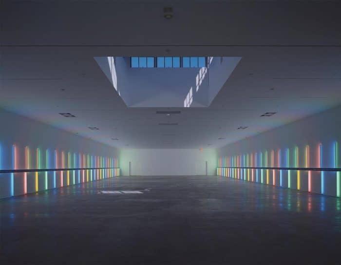 Dan Flavin Menil installation