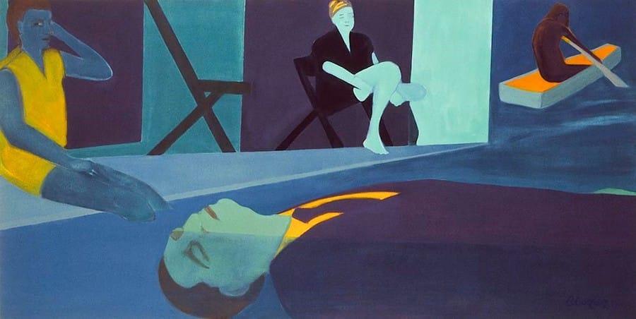 Beatriz González, La pesca milagrosa (Miraculous Catch of Fish), 1992, oil on canvas, Museo de Arte Moderno de Barranquilla. © Beatriz González Archives