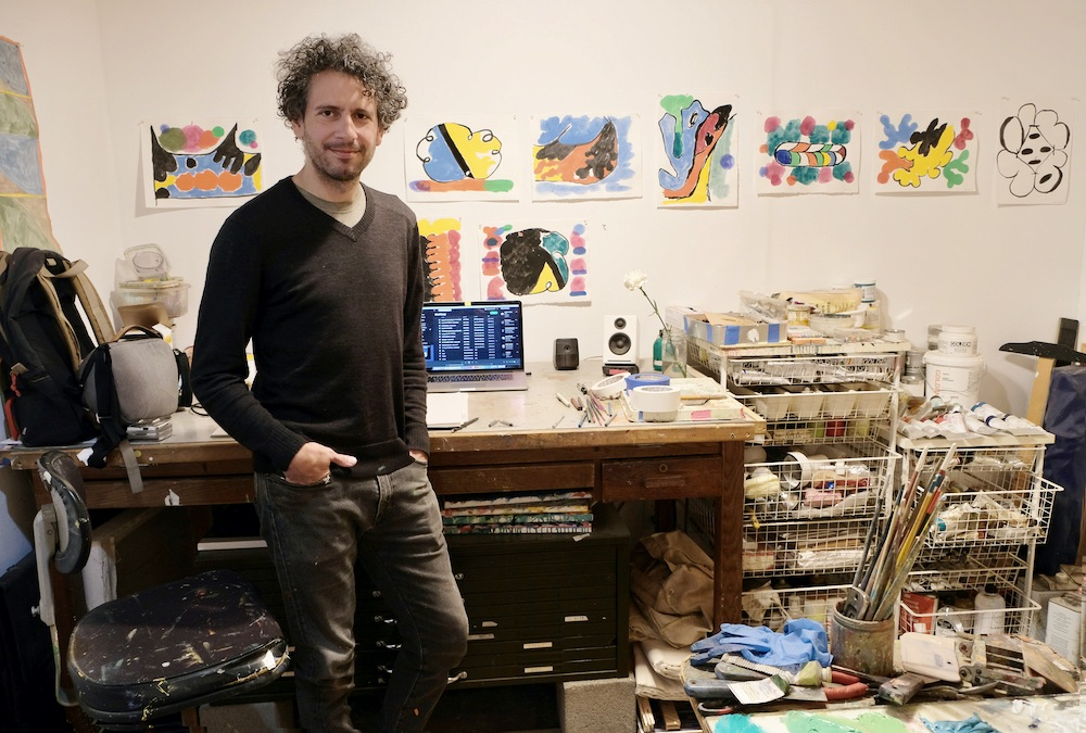 Ryan Thayer Davis in his East Austin studio.