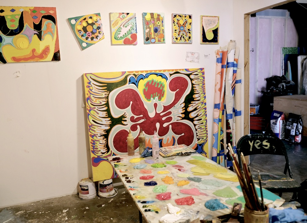 Ryan Thayer Davis' studio in East Austin.