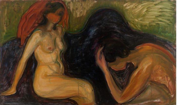 """Edvard Munch, """"Mann og kvinne (Man and Woman)"""" (1898)"""