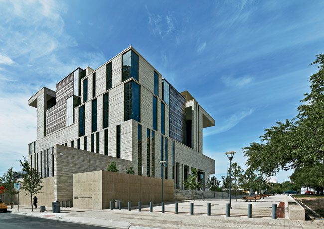 The U.S courthouse in downtown Austin faces Republic Square. Photo courtesy Mack Scogin Merrill Elam Architects