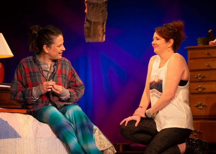 Liz Beckham as June and Shannon Grounds as Alice in Shrewd Productions'
