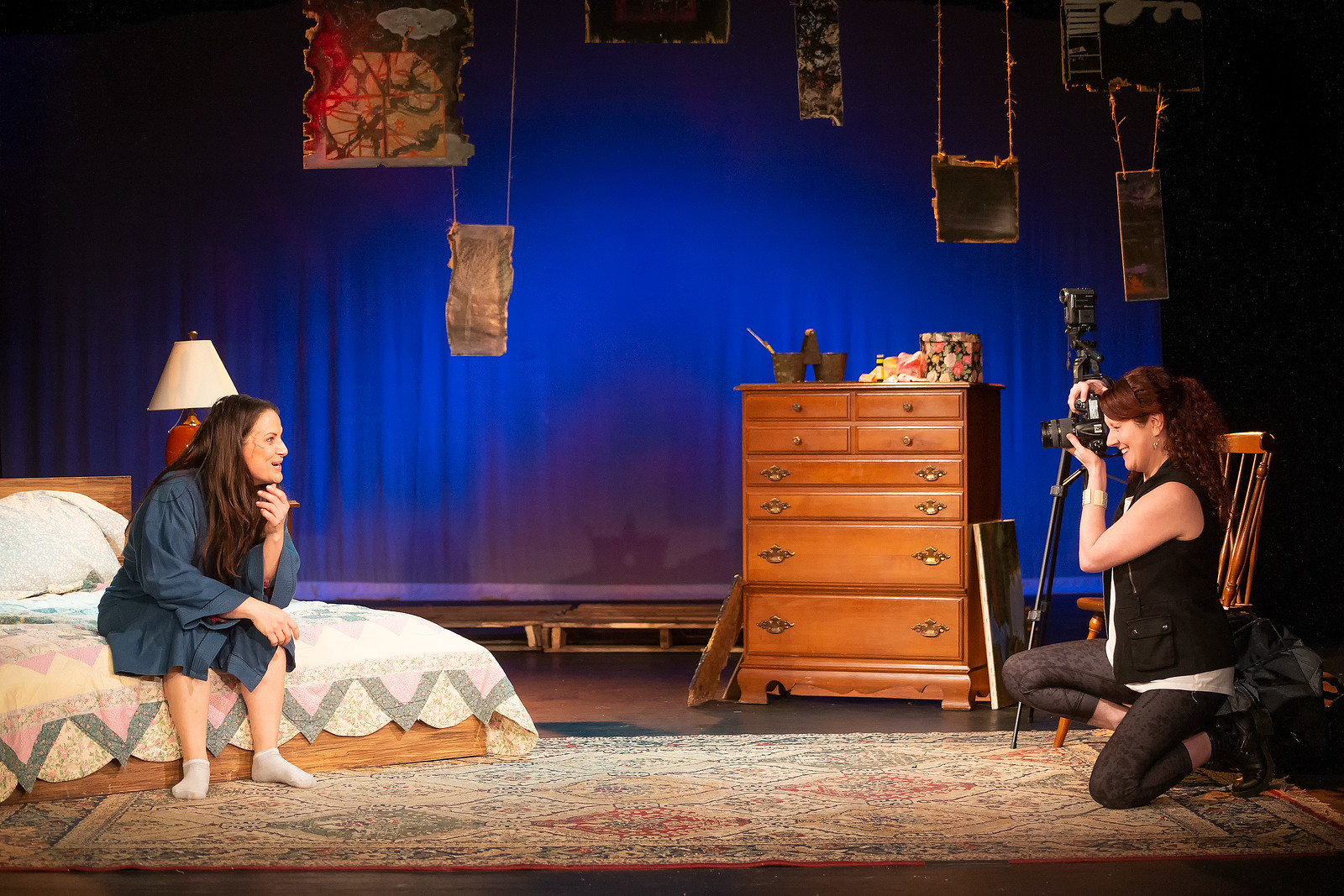 "Liz Beckham as June and Shannon Grounds as Alice in Shrewd Productions' ""Alabaster"" by Audrey Cephaly. Photo by Steve Rogers."
