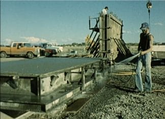 Fabrication of Donald Judd's untitled Freestanding Works in Concrete 1980 - 1984