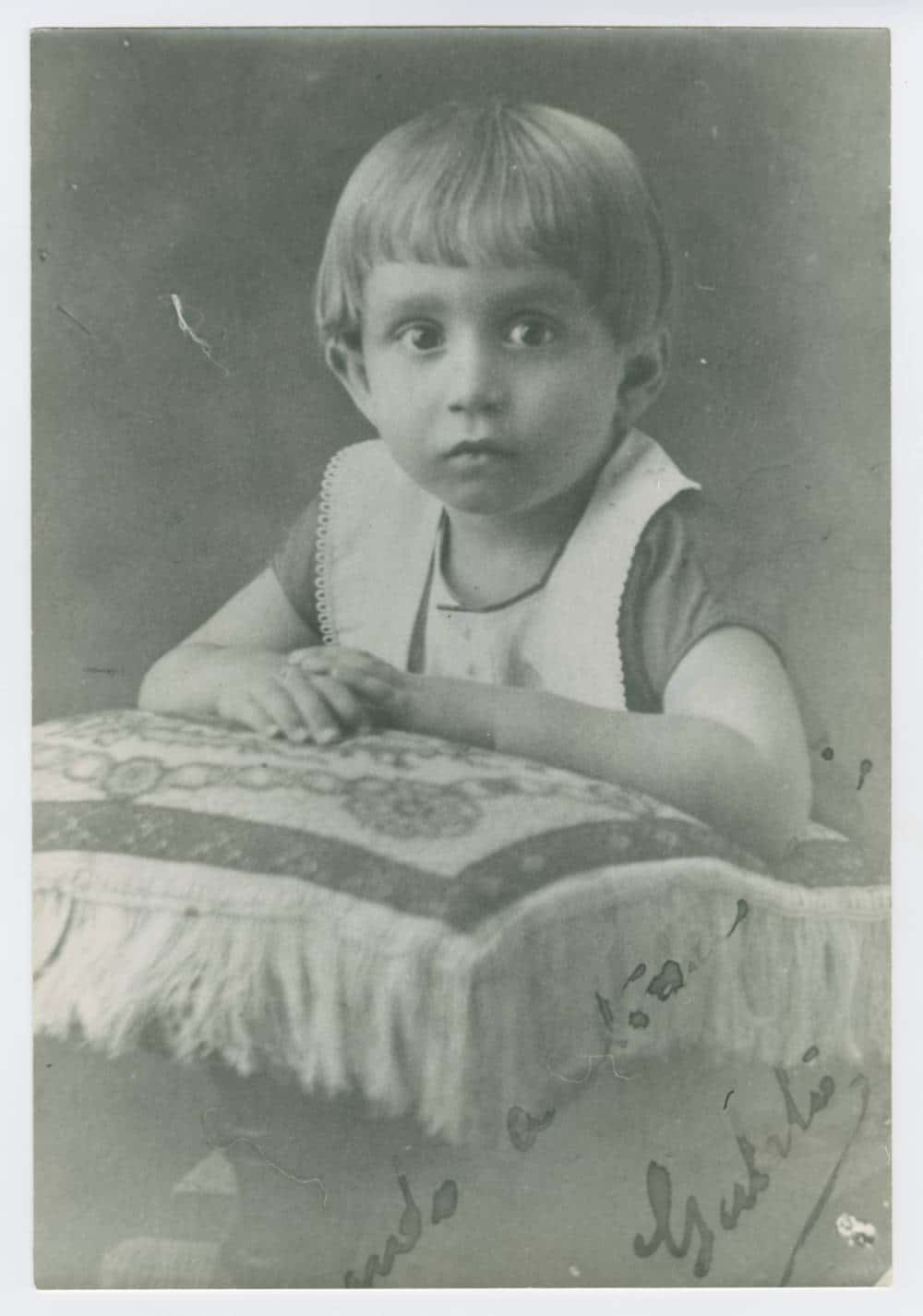 Gabriel García Márquez in a 1929 photograph, at about age two.