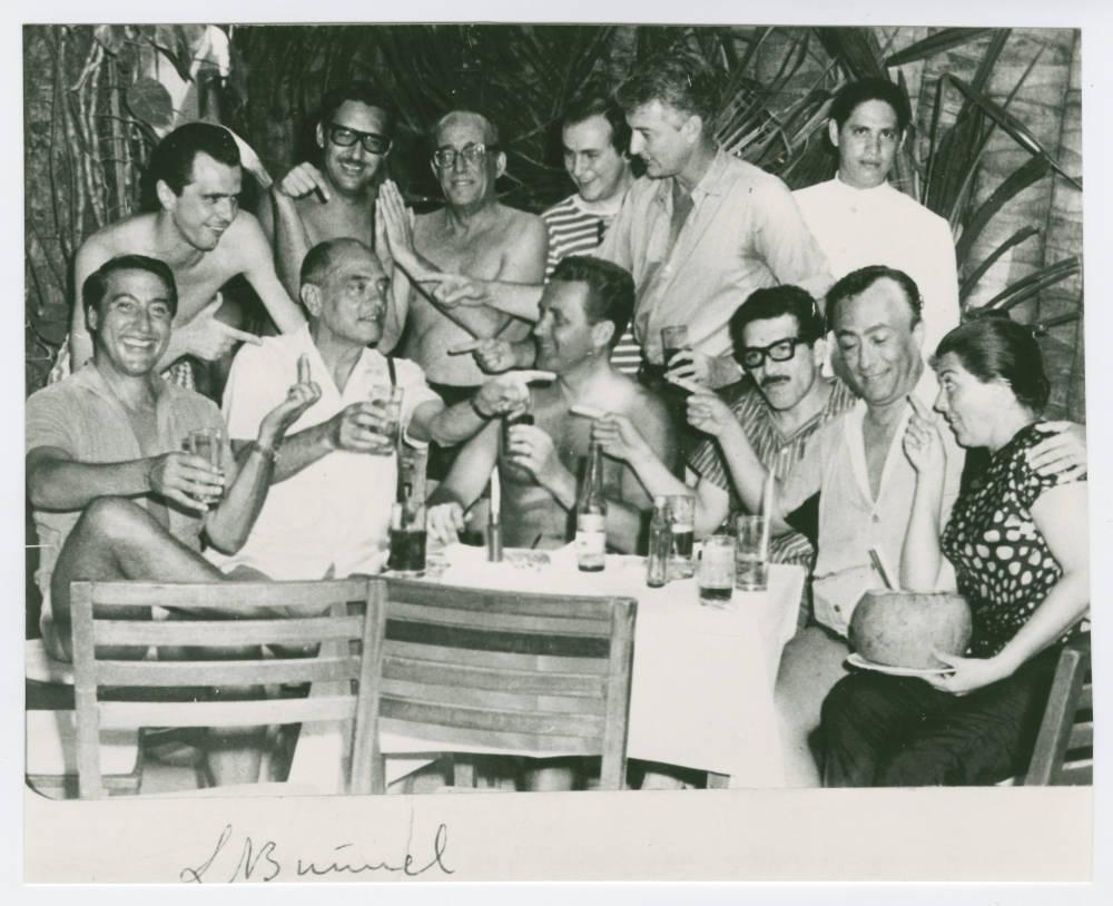 Gabriel García Márquez with Luis Buñuel, Luis Alcoriza, Arturo Ripstein