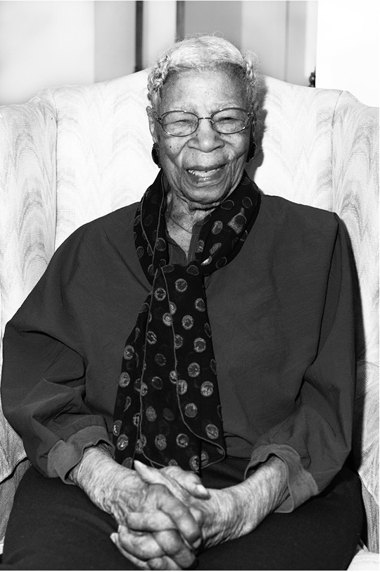 Heartha Glenn, age 100. Photo by Tyeschea West.