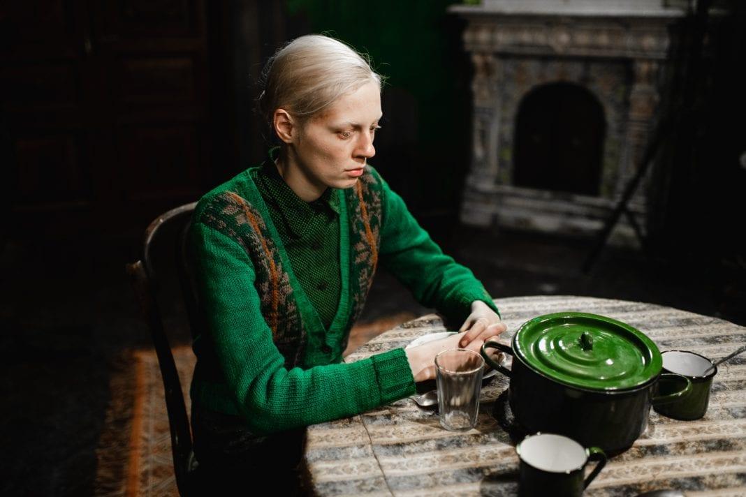Viktoria Miroshnichenko in a scene from Beanpole, courtesy Kino Lorber