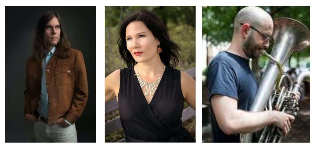 Austin musicians Graham Reynolds, Liz Cass and Steve Parker