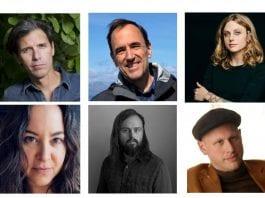 The 2020 Guggenheim Fellows from Texas. Top row: Oscar Cásares, Jeff Goodell, Lacy M.Johnson. Bottom row: Lisa Olstein, Bryan Schutmaat, Yevgeniy Sharlat.