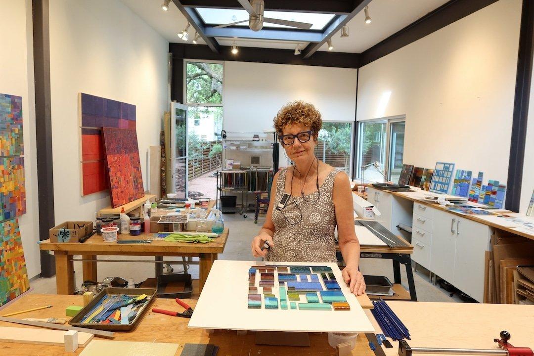 Laurie Frick in her studio