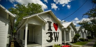 "Marc Newsome's ""I Love 3W"" is a Third Ward-inspired Monopoly Game, rendered as a room, at Project Row Houses."