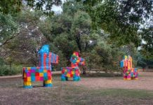 "Las Pinatas, David Goujon (temporary installation) ""Las Pinatas"" is a temporary public art installation commissioned by Austin Art in"