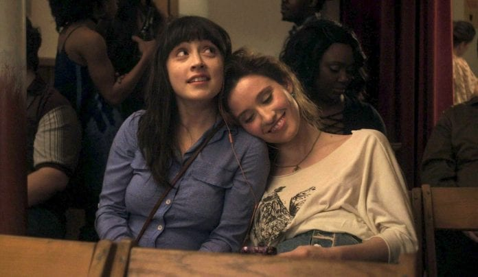 Mara (Tallie Medel, left) and Jo (Norma Kuhling) play best friends in