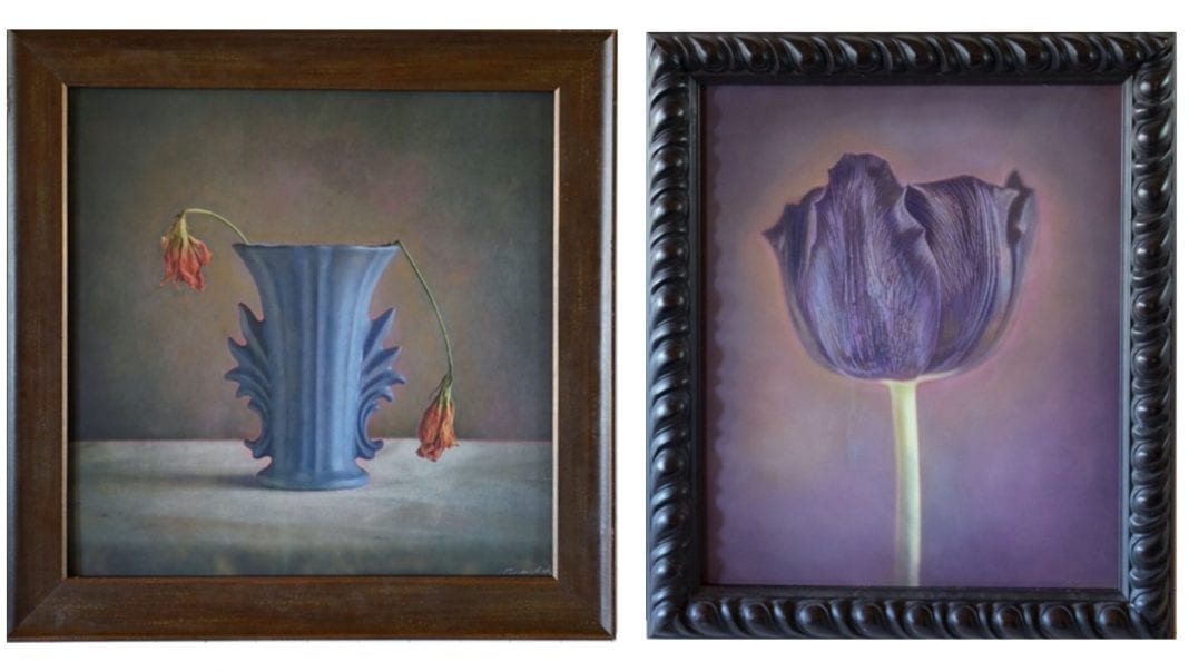 Two artworks from Kate Breakey's solo exhibition