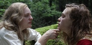 "Elisabeth Moss and Odessa Young star in ""Shirley."" Credit: Neon"