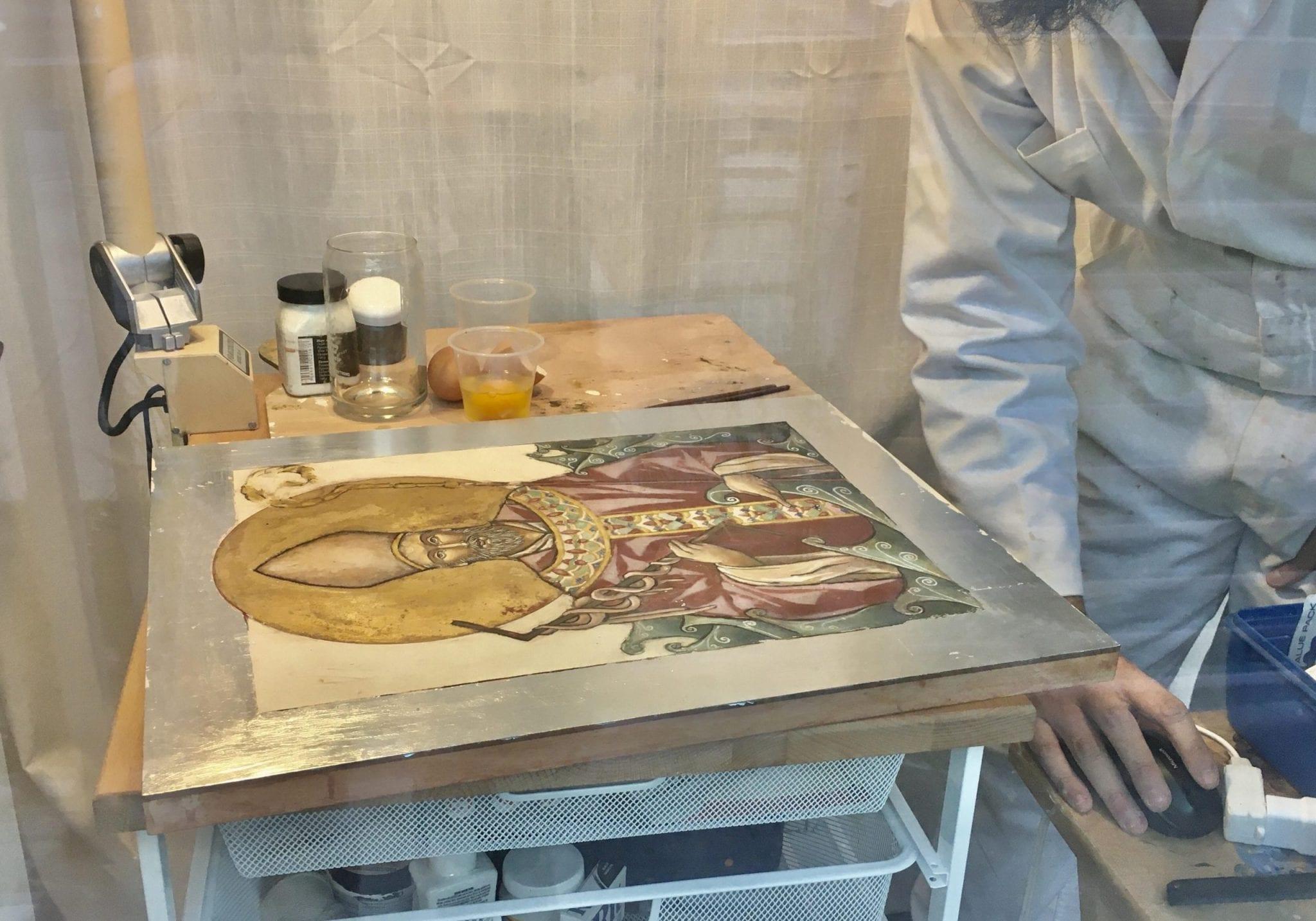 Saul Jermone San Juan painting demo