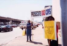 [Willie Mae Kirk at NAACP Protest], ca. 1990s. AR-2001-002-2014-206, The Villager Newspaper Collection.