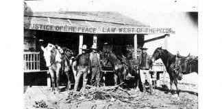 udge Roy Bean's saloon in Langtry i