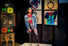 """Ashley Hazzard in the New Manifest production of """"The Realness"""" by Idris Goodwin, 2019. Photo by Mark Moore."""