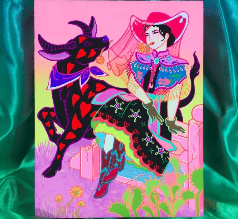 Cantonese Cowgirl and Her Water Buffalo Tsz Kam