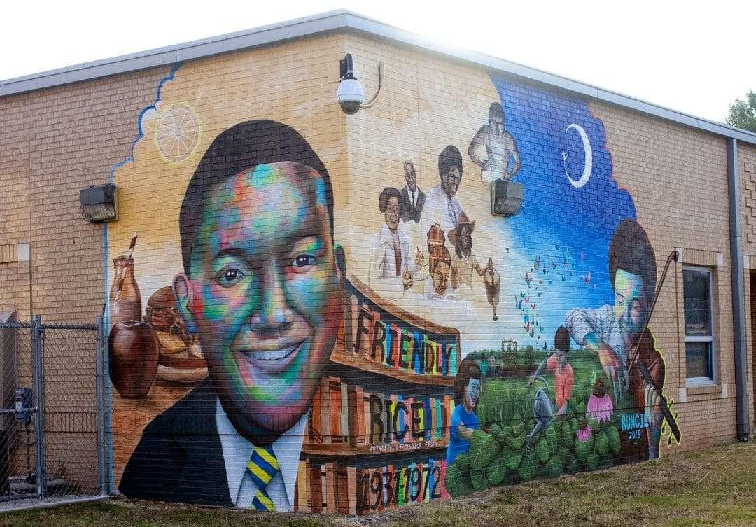 A mural by Ryan Runcie at Blackshear Elementary School