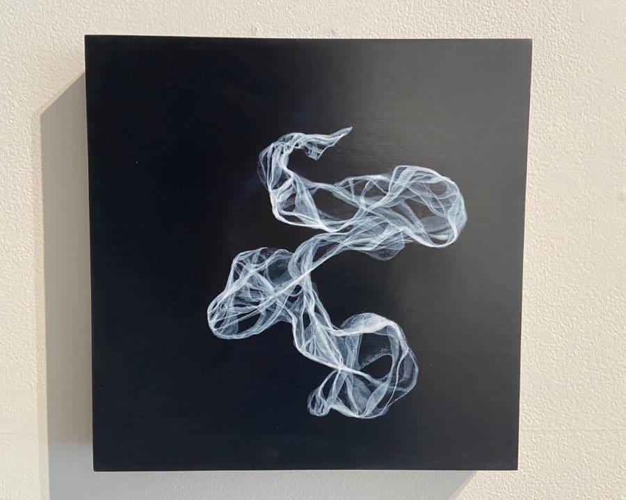 """Jana Swec, """"Isolation #2,"""" Acrylic on Panel, 2020"""