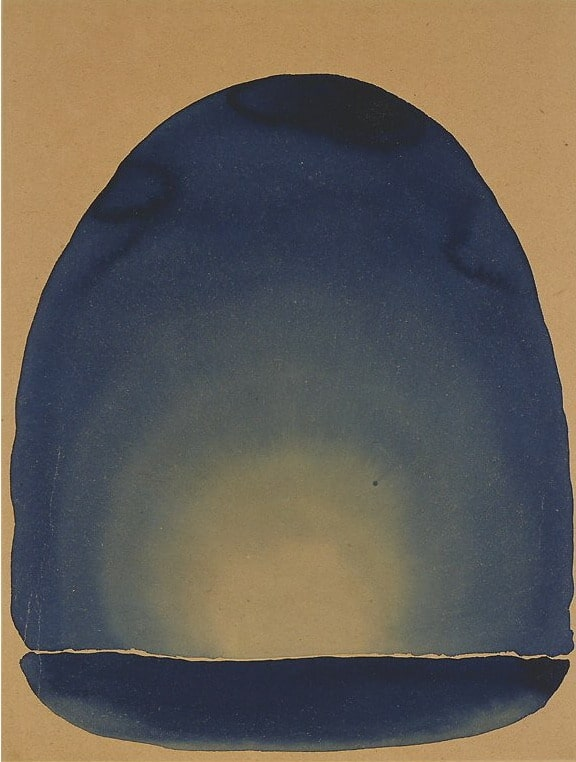 Georgia O'Keeffe, Light Coming on the Plains No. II, watercolor, 1917, Carter Museum of American Art