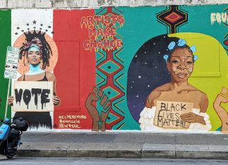Mural by Sadé Lawson and Niz, photo by Andrew Anderson