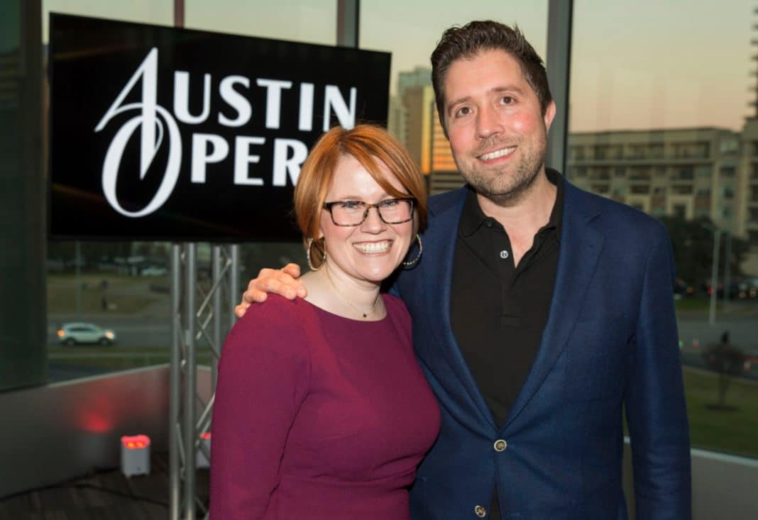 Austin Opera's Annie Burridge and Timothy Meyers in a file photo