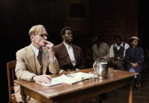 Ed Harris in the Broadway production of 'To Kill A Mockingbird.' Photo by Julieta Cervantes