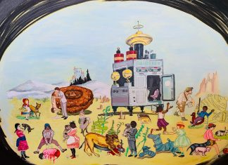 """Shelli Tollman, Somewhere In This World. 2011 Oil on canvas. 30"""" x 40"""